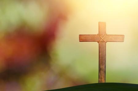 Photo pour cross on blurry background - image libre de droit