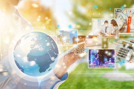 Photo for Digital technology application concept - Royalty Free Image