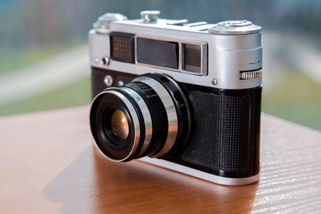 Photo for Film cameras that had been popular in the past - Royalty Free Image