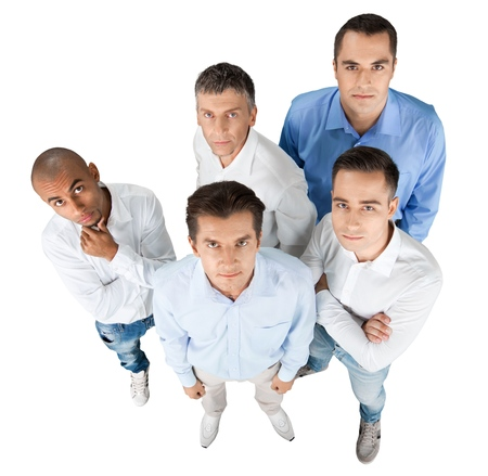 Top View of Confident Businessmen / Men