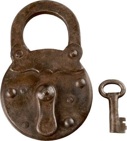 Photo pour Antique lock and key - image libre de droit