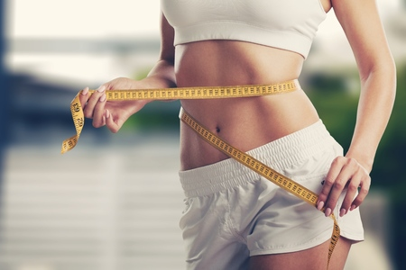 Foto de Weight loss, slim body, healthy lifestyle concept - Imagen libre de derechos