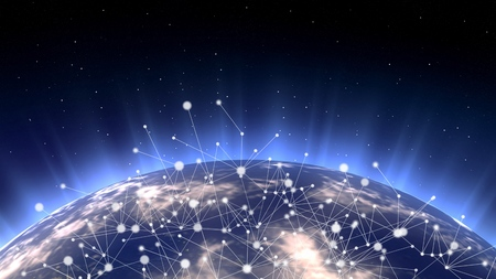 Photo pour Asian telecommunication network connected over Asia, , Japan, Korea, Hong Kong, concept about internet and global communication technology for finance, blockchain or IoT, elements from - image libre de droit