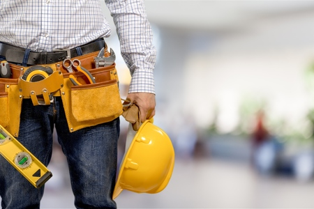 Photo for Worker in a construction site - Royalty Free Image