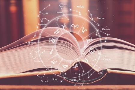 Photo for astrology horoscope magic book illustration - Royalty Free Image