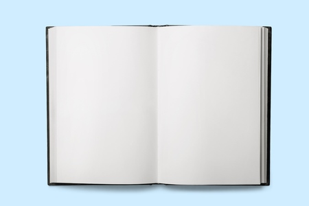 Photo for Open old book with blank sheets - Royalty Free Image