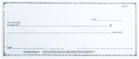 Photo for Blank White Cheque - Royalty Free Image
