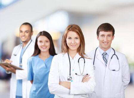 Photo pour Confident Medical team at hospital - image libre de droit
