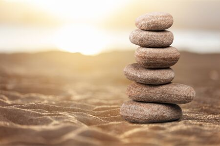 Photo for Zen basalt stones on background - Royalty Free Image