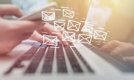 Photo pour Email marketing and newsletter concept - image libre de droit