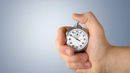 Foto de Stopwatch in Human Hand - Imagen libre de derechos
