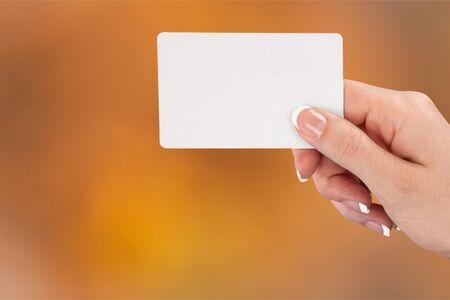 Foto de Empty card in human hand - Imagen libre de derechos