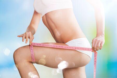Photo pour Slim diet fat satisfaction waist workout abdominal - image libre de droit