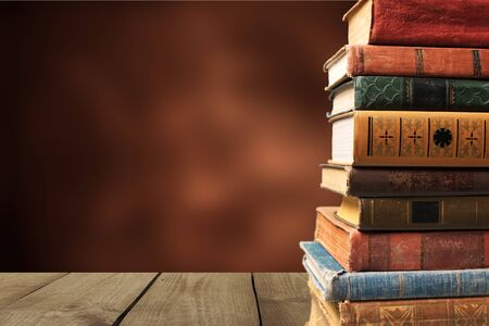 Photo for Collection of old books  on background - Royalty Free Image