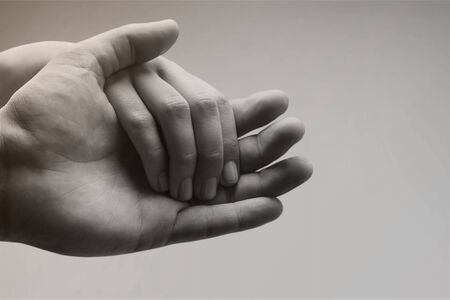 Photo for People with their hands together - Royalty Free Image