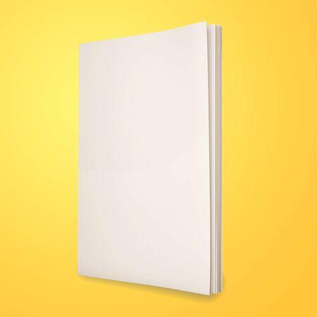 Photo for Blank magazines on yellow background - Royalty Free Image