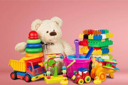 Photo pour Toys collection isolated on  background - image libre de droit