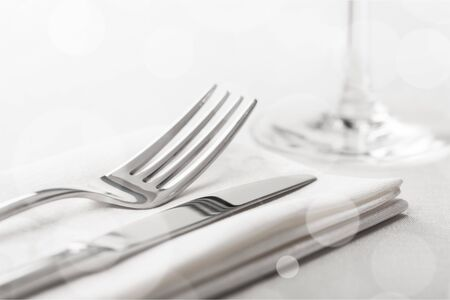 Photo pour Table Setting with Fork and Knife - image libre de droit