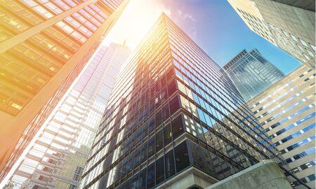 Photo pour Modern office buildings in city - image libre de droit