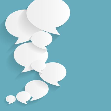 Illustration for Speech Bubble Background Flat Illustration - Royalty Free Image