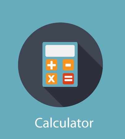 Calculator Flat Concept Icon Illustration