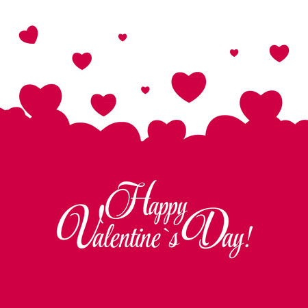 Ilustración de Happy Valentines Day Card with Heart. Vector Illustration - Imagen libre de derechos