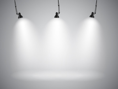 Illustration pour Background with Lighting Lamp. Empty Space for Your Text or Object. EPS10 - image libre de droit