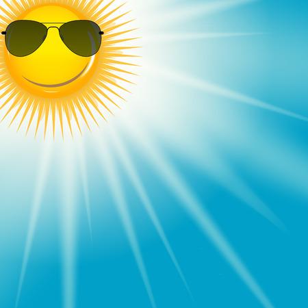 Illustration pour Natural Sunny  Background Vector Illustration - image libre de droit