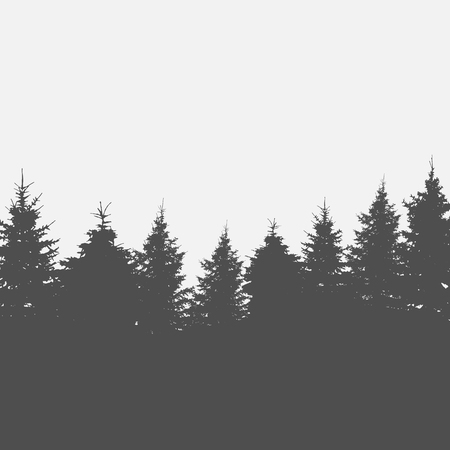 Image of Nature. Tree Silhouette. Vector Illustration.