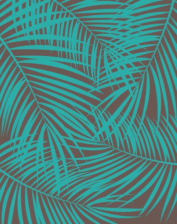 Illustration pour Palm Leaf Vector Background Illustration EPS10 - image libre de droit