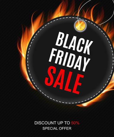 Ilustración de Black Friday Sale Inscription Banner Design Template Vector illustration - Imagen libre de derechos