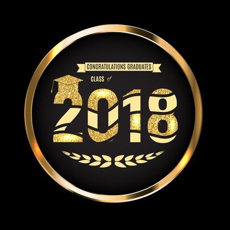 Congratulations on Graduation 2018 Class Background Vector