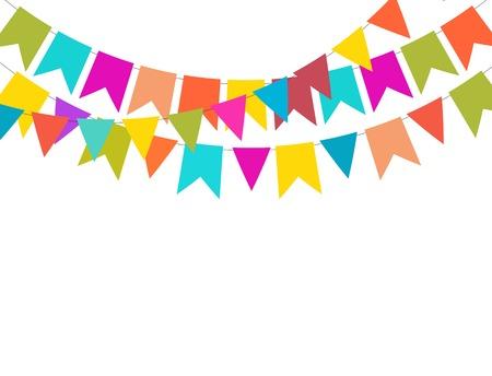 Illustration pour Party Background with Flags Vector Illustration. - image libre de droit
