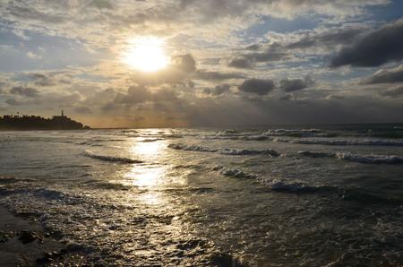 sunset in the Mediterranean Sea