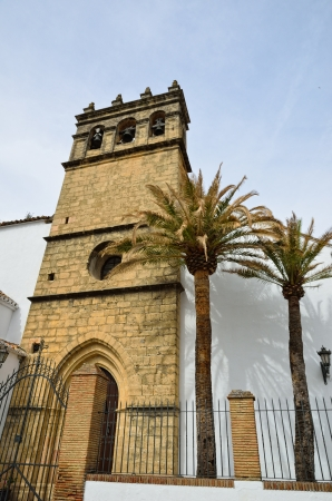 The gothic bell tower belong to the most popular church Padre Jesus in Ronda  Iglesia de Nuestro Padre Jesus Ronda