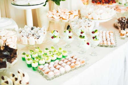 Foto für Delicious wedding reception candy bar dessert table - Lizenzfreies Bild