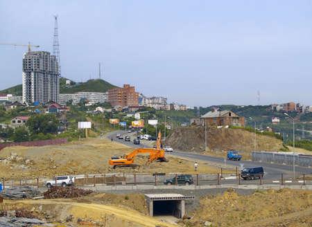 Area of city new buildings. Vladivostok, Russia.