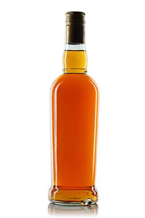 Photo pour Bottle with alcohol on a white background - image libre de droit