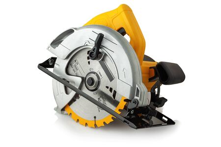 Photo for new modern circular saw on white background - Royalty Free Image