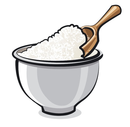 Flour in a bowl