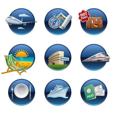 Photo for Travel icon set buttons - Royalty Free Image