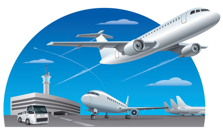 Illustration pour airport field - image libre de droit