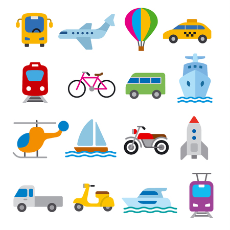 Illustration for set of illustrations for concept icons of transport - Royalty Free Image