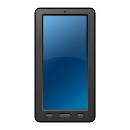 Illustration pour Illustration of the classic mobile smartphone icon - image libre de droit