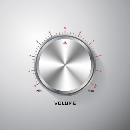 Illustration for Chrome adjusting knob - Royalty Free Image