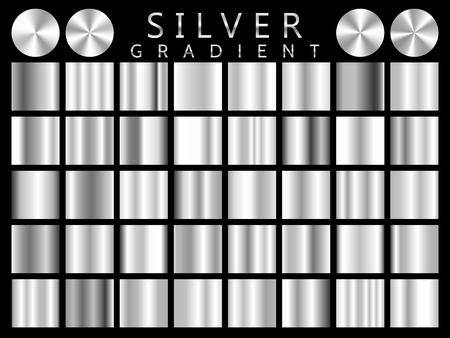 Illustration for Silver background texture vector icon seamless pattern. Light, realistic, elegant, shiny, metallic and silver gradient illustration. Mesh vector. Design for frame, ribbon, coin, abstract. - Royalty Free Image