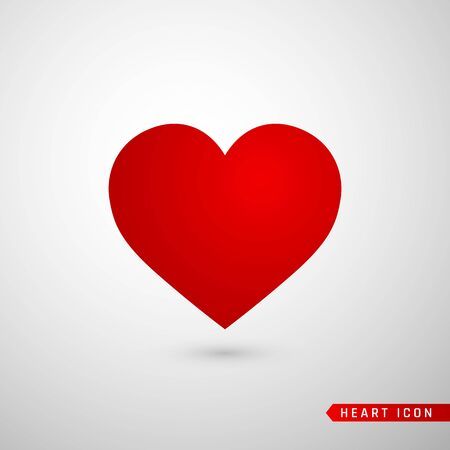 Photo pour Heart flat icon. Love symbol isolated on gray background. Vector illustration. - image libre de droit