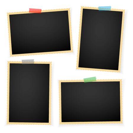 Illustration pour Retro photo frame with shadows. Vector illustration. - image libre de droit