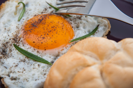 Morning concept with breakfast, natural theme