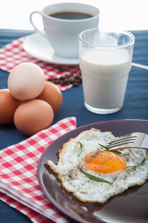 Bright concept of breakfast